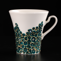 Two hand-painted cups Blue
