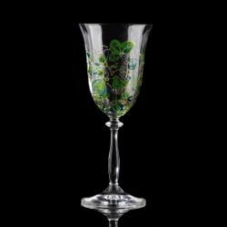Hand-painted artistic wine glasses Kashubian Inspirations