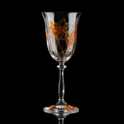 Artistic gift. Wine glasses Colorful Birds Collection