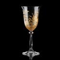 Two hand-painted wine glasses Inspired by Gustav Klimt