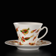 Hand painted and decorated cup Kashubian Gold with Swarovski crystals