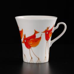 Kolorowe ptaki artystyczne kubki ręcznie malowane