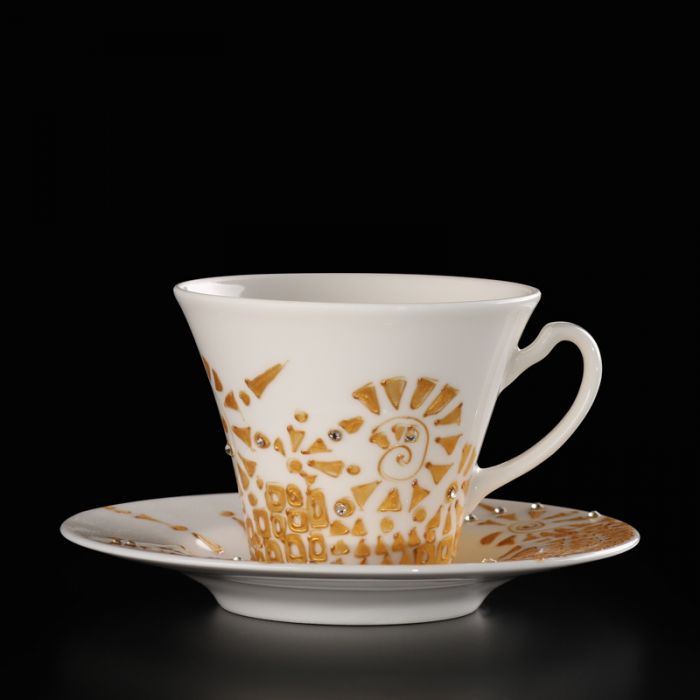 Unique Wedding Gift Ideas.Unique Wedding Gift Idea Two Hand Painted Cups Inspired By Gustav Klimt