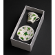 Hand painted cups in a decorative box