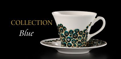 Hand painted artistic cups Blue Collection